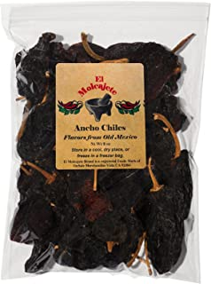 Dried Ancho Chiles Peppers El Molcajete Brand 8 oz Resealable Bag ‐ Mexican Recipes,..