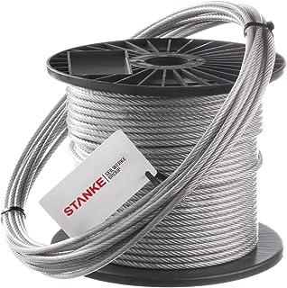Inox A4acier inoxydable Corde Corde en acier Câble métallique 7x 7recharges d = 2,5mm 50mètres en acier inoxydable