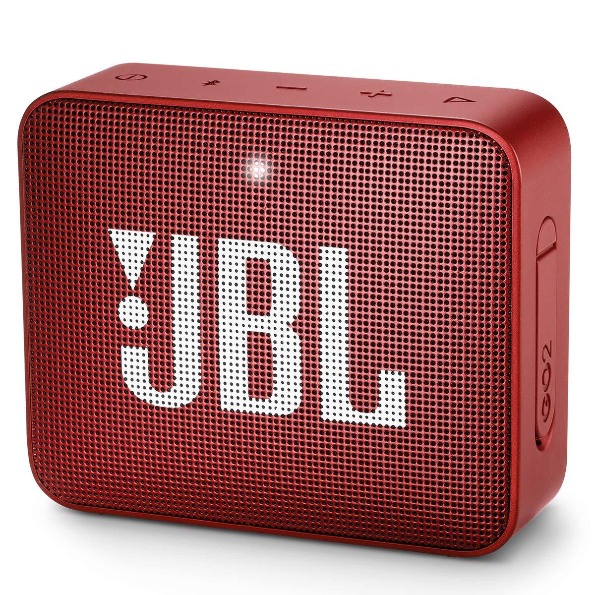 Amazon Com Jbl Go2 Waterproof Ultra Portable Bluetooth Speaker Red Electronics
