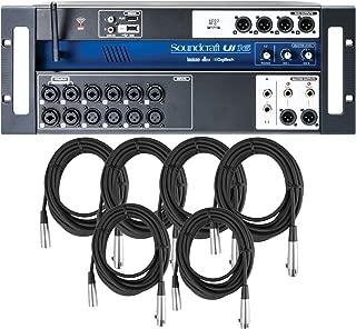 Soundcraft UI 16 Tablet PC Smartphone Controller Digital Mixer w/ 6 20' XLR Cables