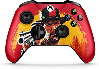 Dreamcontroller Xbox One Non-Modded Controller - Customized Design with Anti-Slip Soft Grip - Great for Gaming Competitions and Tournaments - Bluetooth for Windows 10 PC(Red Dead Redemption 2)