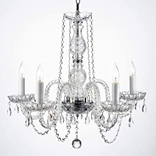 New! AUTHENTIC ALL CRYSTAL CHANDELIERS H25
