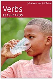 Picture My Picture Verbs Flash Cards | 40 Action Language Development Educational Photo Cards | 5 Learning Activities for Parents and Teachers | Speech Therapy Materials and ESL Materials