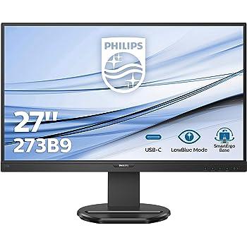 Philips 273B9 - Monitor de 27 Pulgadas (HDMI, DisplayPort, USB-C, USB Hub, 1920 x 1080, 75 Hz, FreeSync, Tiempo de Respuesta de 4 ms), Color Negro: Amazon.es: Informática
