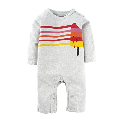 afa7eea8cad BIG ELEPHANT Baby Boys  1 Piece Long Sleeve Romper Pajama Clothes H12