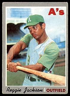 Baseball MLB 1970 Topps #140 Reggie Jackson VG-EX Athletics