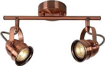 Lucide CIGAL - Plafondspot - Ø 9 cm - LED - GU10 - 2x5W 2700K - Koper