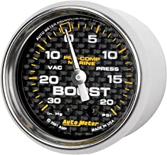Auto Meter AutoMeter 200774-40 Gauge, Vac/Boost, 2 1/16