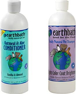 Earthbath Light Color Coat Brightener Shampoo for Dogs and Cats, Lavender Scent, 16 Ounces Oatmeal and Aloe Conditioner fo...