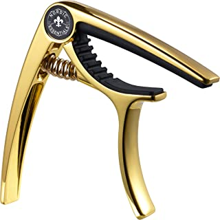Nordic Essentials Guitar-G Capo Deluxe with Carrying Pouch, Metallic Gold Nugget