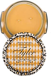 Tyler Glass Fragrance Candle 22 Oz,Icon,Gold
