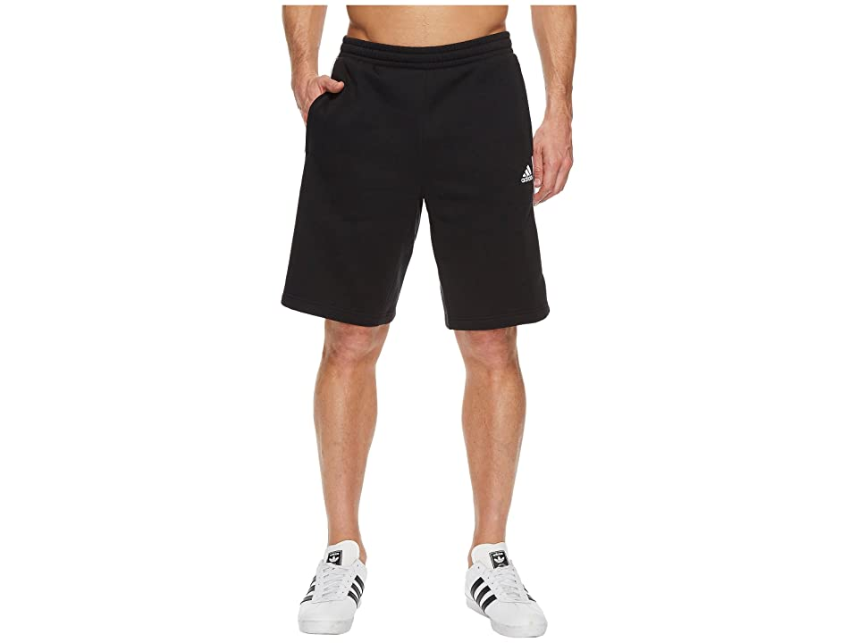 adidas Essentials Cotton Shorts (Black/White) Men