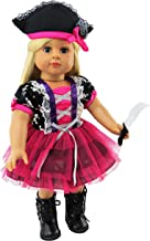 Pink Tutu Pirate Halloween Costume| 18 Inch American Girl Doll Clothes