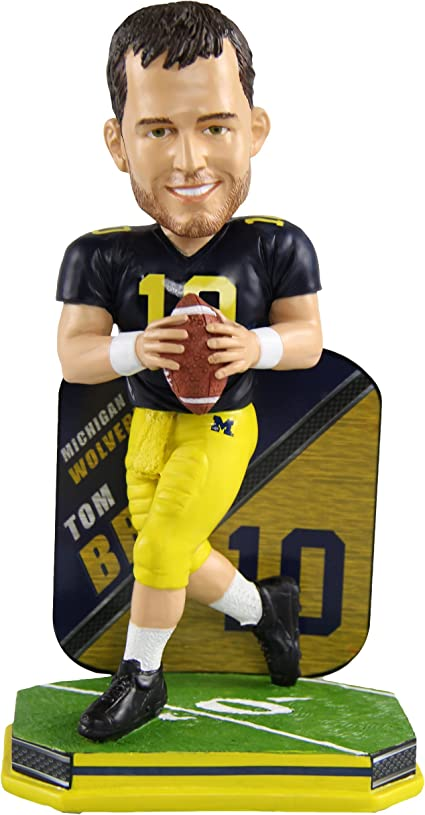 Tom Brady Michigan Wolverines Special Edition College Name and Number Bobblehead