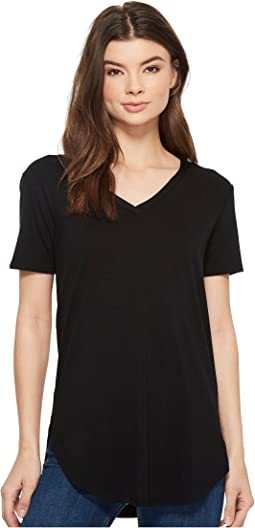 American Rose Gianna V-Neck Short Sleeve Top