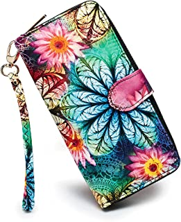 LOVESHE Women's Flower Polyester Bifold Purse Clutch Wallet Card Holder New Fashion