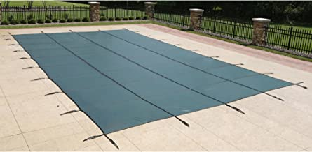 Blue Wave 16-ft x 32-ft Rectangular In Ground Pool Safety Cover - Green