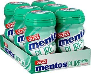 Mentos Pure Fresh Chewing Gum, 50 Pieces (Pack of 6)