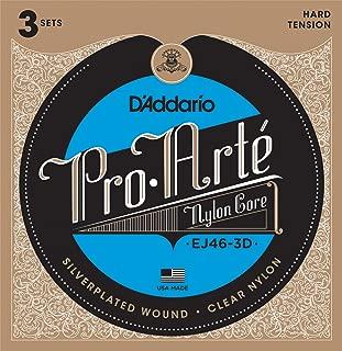 D'Addario ダダリオ クラシックギター弦 プロアルテ Silver/Clear Hard EJ46-3D 3set入りパック 【国内正規品】