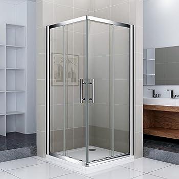 Mamparas de ducha 2 fijos + 2 correderos pantalla de baño ...