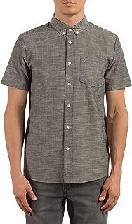 Men's Everett Oxford Modern Fit Short Sleeve Shirt, Black, Small