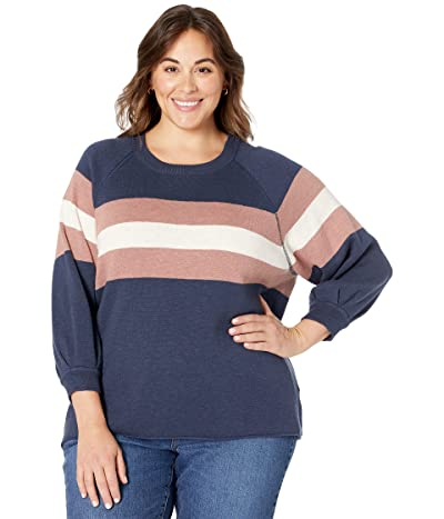 Madewell Plus Striped Telluride Pullover Sweater