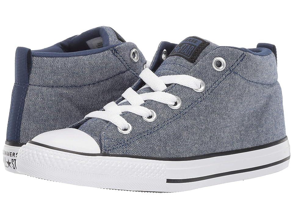 Converse Kids Chuck Taylor All Star Street Urchin Mid (Little Kid/Big Kid) (Navy/Black/White) Boys Shoes