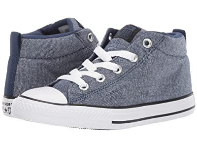 Converse Kids Chuck Taylor All Star Street Urchin Mid (Little Kid/Big Kid) (Navy/Black/White) Boys Shoes