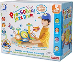Big Beats Pre-School Jazz Drum Set with Preloaded Songs and Music with Educational Activities Like Counting and Developing A Sense of Music Beat