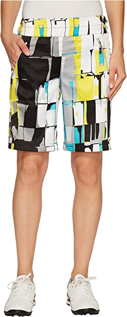 """Skinnylicious Digi Box Print 19"""" Shorts"""