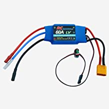 60A RC Brushless Motor Electric Speed Controller ESC 4A UBEC with XT60 & 3.5mm bullet plugs