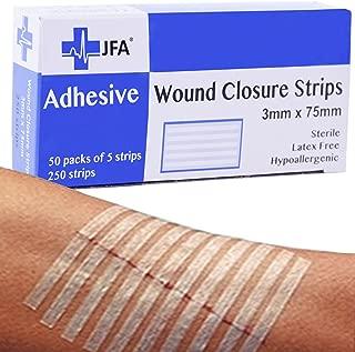 250 bandas de herida cierre estándar (3 x 75 mm) 5 bandas par - Juego