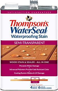 THOMPSONS WATERSEAL TH.042851-16 Semi-Transparent Waterproofing Stain, Woodland Cedar