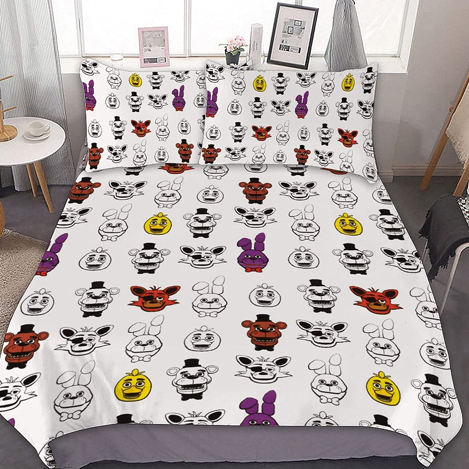Funny FNAF Quilt Sets for Fees free!! Men Soft Las Vegas Mall Zipper Bedding setsWith Women