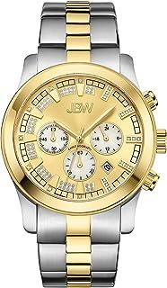 ساعة فاخرة للرجال ديلانو كرونوغراف مع سوار معدني ومرصعة بعدد 22 قطعة من الماس من جيه بي دبليو