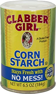 Clabber Girl Corn Starch - Gluten Free, Vegan, Vegetarian, Thickener for sauce, soup, gravy in a Resealable Can - 6.5 oz can (12)