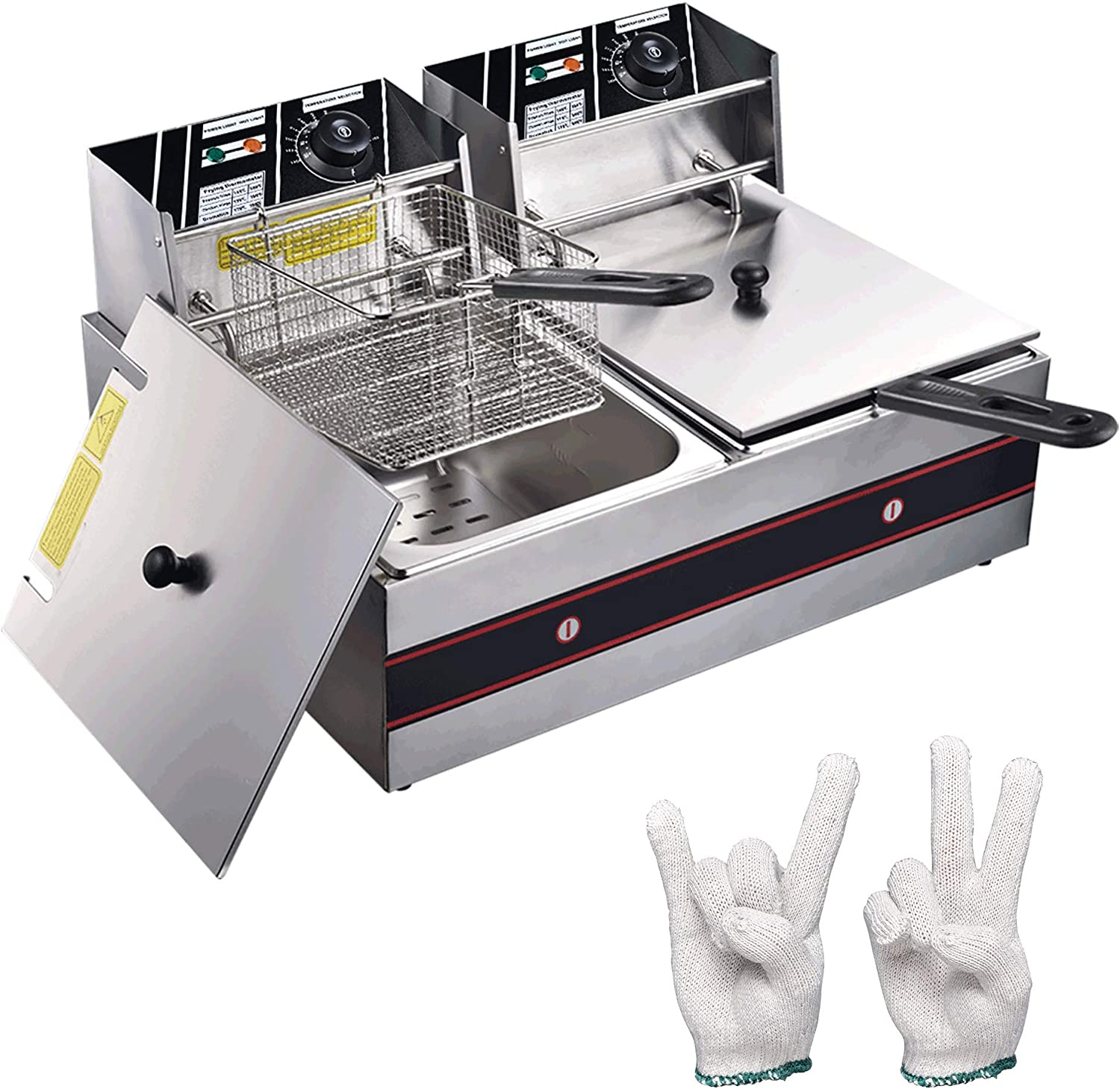 Commercial half Stainless Steel Sales for sale Electric Countertop with D Fryer Deep