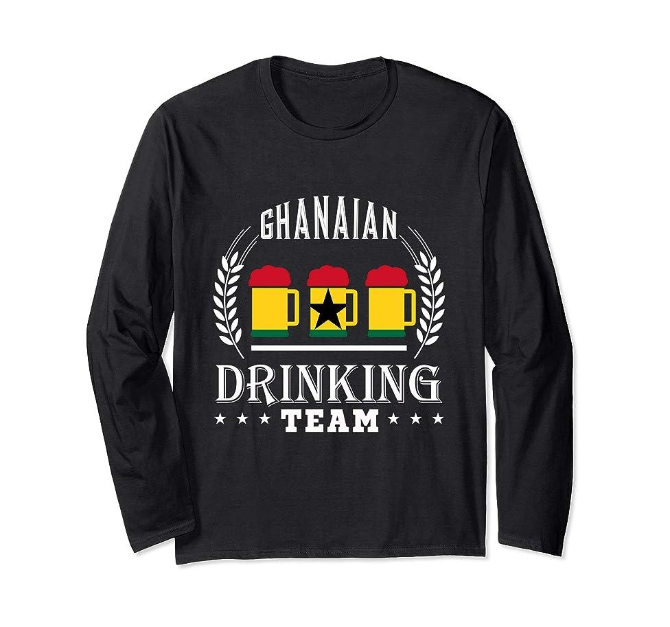 Beer Ghanaian Drinking Team Ghana Flag Long Sleeve Tee