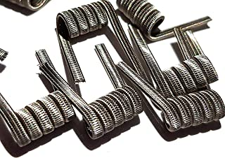 Pack of 10 Prebuilt Handmade Triple Staggered Fused Clapton Ni80 3x26GA + Ni80 1x36GA for Craft Hobby Use