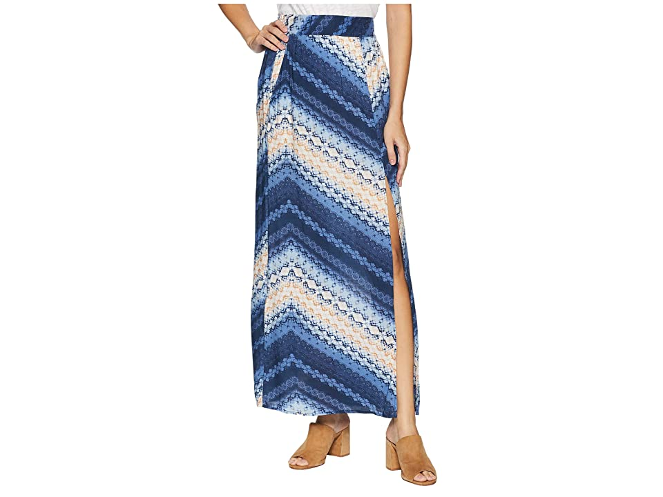 BCBGeneration Front Slit Maxi Skirt (Tie-Dye Breeze) Women