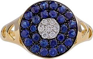 Effy 14K Yellow Gold Sapphire & Diamond Ring, 0.91 TCW