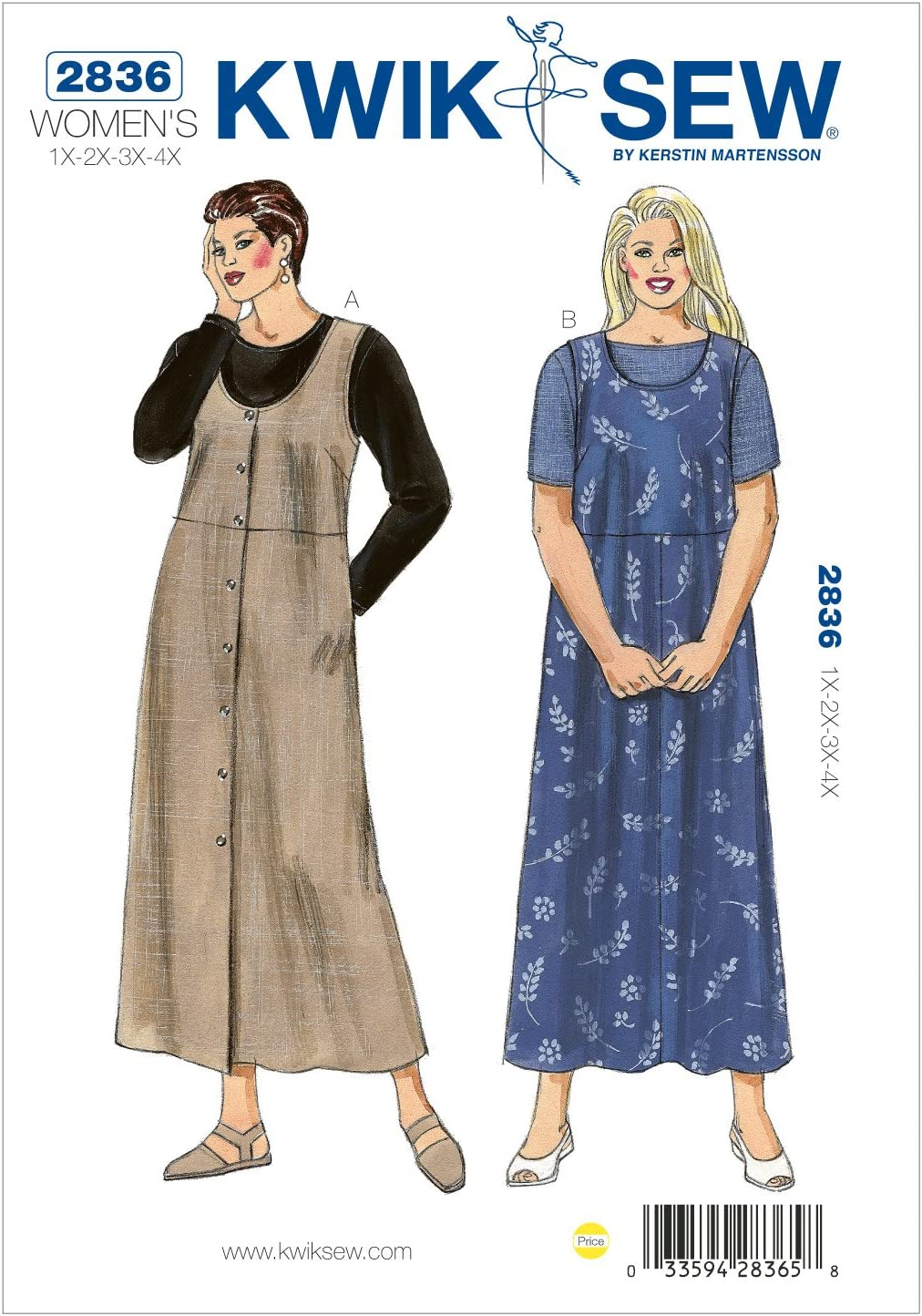Kwik sold out Sew K2836 Jumpers and Pattern Fort Worth Mall Shirts Size 1X-2X-3X- Sewing
