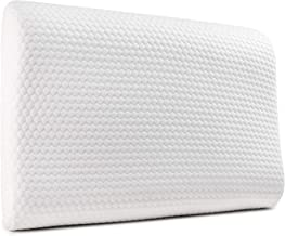 Cuddle-Luxe Memory Foam Contour Pillow - Cooling Gel Infused, Optimum Neck Support Cervical Pillow for Side and Back Sleeper, Orthopedic Pillow with Cotton Cover (King)