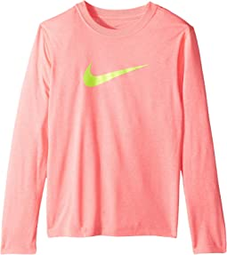 Dry Long Sleeve Swoosh Tee (Little Kids/Big Kids)