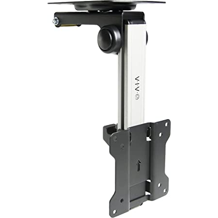VIVO Manual Flip Down Ceiling Mount for 13 to 27 inch Flat Screens, Folding Tilt Pitched Roof and Under Cabinet Mounting for LCD TV and Monitors, MOUNT-M-FD27
