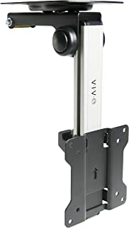 """VIVO Manual Flip Down Mount Folding Tilt Pitched Roof Ceiling Mounting for LCD Flat TV & Monitors 13"""" to 27"""" Screens - Sil..."""