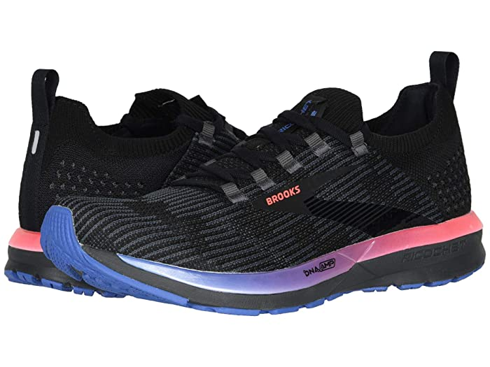 Brooks  Ricochet 2 (Black/Blue/Fiery Coral) Womens Running Shoes