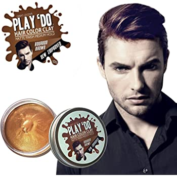Play 'Do Temporary Hair Color, Hair Wax, Hair Clay, Mens Grooming, Brown Bronze hair dye(1.8 ounces)