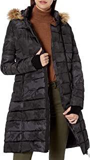 Women's Long Asymmetric Puffer Coat with Hood