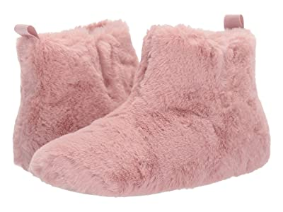 FitFlop Furry Slipper Bootie (Rose) Women